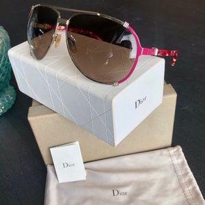Dior EUC Chicago 2/S 5R8V6 Gold & Pink Sunglasses